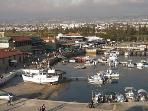 Historic Paphos harbour from the tower (20 mins by foot)