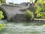 Fishing for trout and salmon in nearby Navarrenx