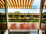Large balcony overlooking the Orta Lake