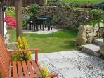 Trethellan Lodge Garden and patio