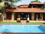 Hiru Sandu Villa is right on the beach for a perfect relaxing holiday on a gorgeous sandy beach