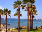 View of Paphos Fort and Harbour