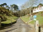 Entrance to Boscombe Chine Gardens, with large children's play area & mini golf. 5 minutes