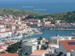 Port-Vendres ~ showing our two apartments