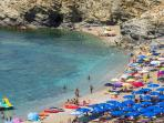 Beach with facilities nearby (Argentiera)