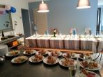 Dinner party with local caterer and service