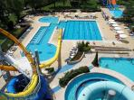 water parks 2 km away