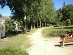 Park in Eymoutiers, a short stroll from apartment