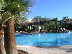 .....or relax by one of the many other pools, one of which is heated all year round