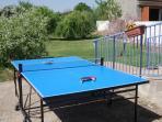 Table tennis in the garden