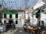 summer fiesta in the village