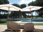 Pool with view over fairway 9 and 10 Nuevo Portil golf course.