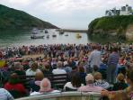 Port Isaac's infamous Fishermen's Friends sing.