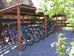 A large selection of bicycles free for you to use
