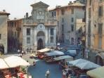Nearby Spoleto has great shops and restaurants