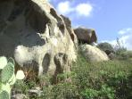 Unbelievable granite formations along the coast and the hills nearby