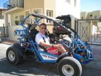 Hire one of the popular buggies not far from the villa - great fun for dad and the kids