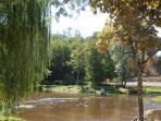 Paddling in the river near Ruffec