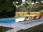 Swimming pool with view to fields