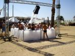 Foam party at Zouara beach
