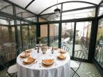 the veranda from inside