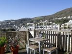 Relax on the perch deck and take in the amazing views of the sea, town and ventnor downs