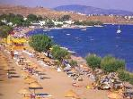 Sandy beach in Ortakent, child friendly, watersports available