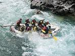White water rafting on the River Soca