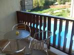 The balconey overlooking the pool