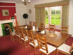 Up to twelve family or friends can enjoy a great meal together in the comfort of the dining room.