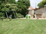 Secluded and Private Gardens. No other gites mean total privacy. Sand pit and swing set, badminton.