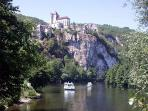 ... and the medieval village of Saint-Cirq-Lapopie...