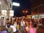 Sveti Vlas village at night