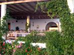 To Kamari taverna a short walk away. Enjoy the hospitality from Maria and her family