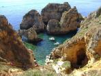 Sail from the Marina or Dona Ana beach around the grottoes at Ponta da Piedade