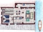 Main level floor plan.