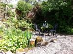 An enclosed and private garden to catch the sun and enjoy the peace
