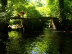 One of our local 'hidden gems'- a roman bridge over flowing clear waters.