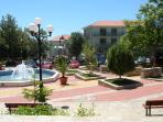 Vlas town square