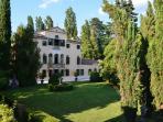 vista panoramica di Villa Zonca da una delle camere della barchessa.