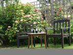 Take advantage of the sunshine...sit outside and enjoy breakfast or a glass of wine.