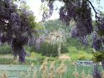 A view of the rock tombs from the Dalyan side