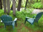 Sitting area on Boulder Creek