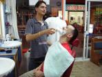At the Turkish barbers