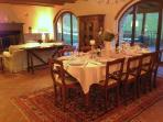 Dining area Villa