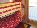 Second bedroom with twin bunks