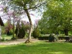 in front of the garden terrace.