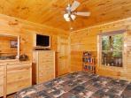 Pine Cove Hideaway #1816- Bedroom with TV