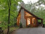 Afternoon Delight is a newer log cabin nestled deep in the woods