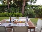 Elegant Outdoor Dining in private garden